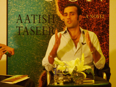 Aastish Taseer at the book launch of Noon in Kolkata. Sandip Roy/Firstpost
