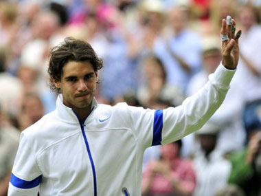 Nadal at the Wimbledon final this year. AFP