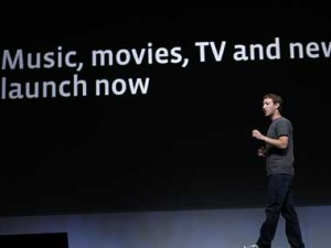 Mark Zuckerberg announcing Facebook updates