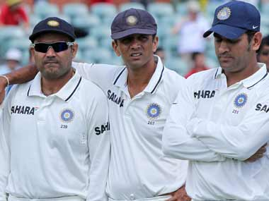 Dhoni, Dravid and Sehwag