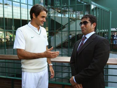 Sachin and Roger -- Two of a kind. Getty Images