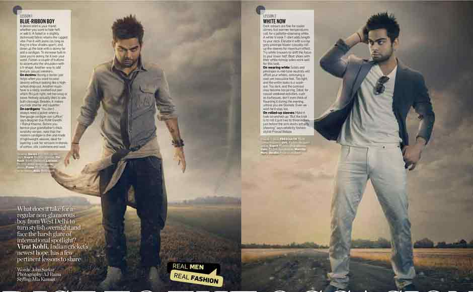 Virat Kohli poses for the bi-annual issue of Guide to Style, Men's Health Magazine. Courtesy: Men's Health Magazine