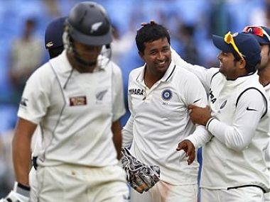 Ojha's wicket of Ross Taylor was key. AP