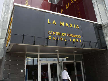 A view shows FC Barcelona's La Masia (Oriol Tort training center), near Barcelona. Reuters