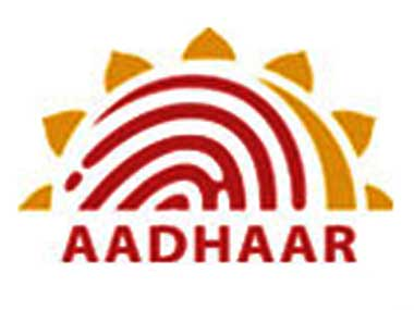 The Aadhaar logo. Image courtesy UIDAI