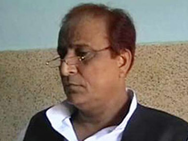 Azam Khan. Screen grab: ibnlive