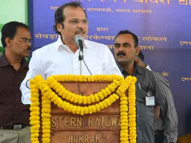Minister of State for Railways, Adhir Ranjan Chowdhury. Image courtesy PIB