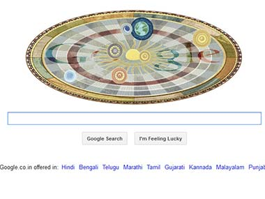 Screengrab of today's Google Doodle.
