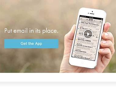 Screengrab of the App, the MailBox.