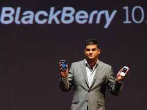 Vivek Bhardwaj at the launch of BB 10 in India. AFP