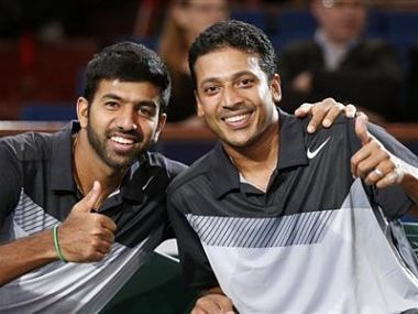 File photo of Mahesh Bhupathi (R) and Rohan Bopanna. Reuters