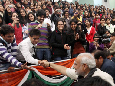 Can Modi reach out to the youth of the entire country? PTI.