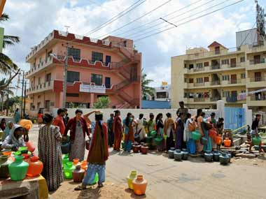 Bangalore's water woes may only get worse with time. AFP