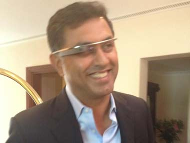 Nilesh Arora wearing Google glass: Durga Raghunath/Firstpost