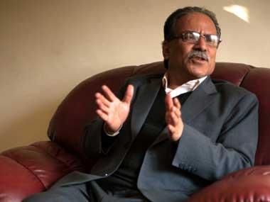 File image of Nepal's Prime Minister Prachanda. AFP