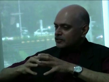 Raghav Bahl talking to Firstpost in Delhi