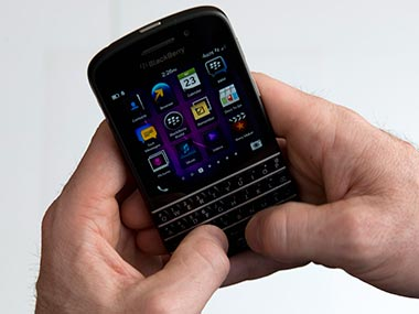 BlackBerry Q10 is out in India today. AP