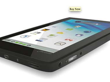 Datawind's Ubislate tablet. Screengrab.
