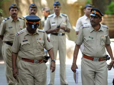 A file photo of Mumbai police. AFP photo