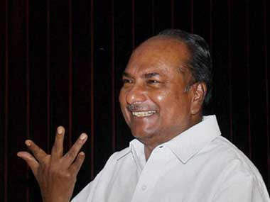 Antony is presently on a diplomatic visit to China. PTI
