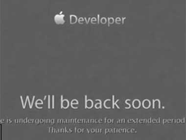 Screengrab of Apple's developer website.
