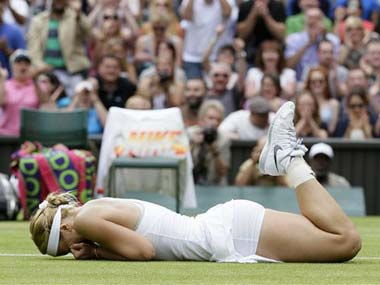 Lisicki cannot believe she just beat Serena Williams. AP