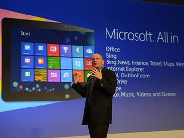 Microsoft CEO Steve Ballmer in this file photo. AFP
