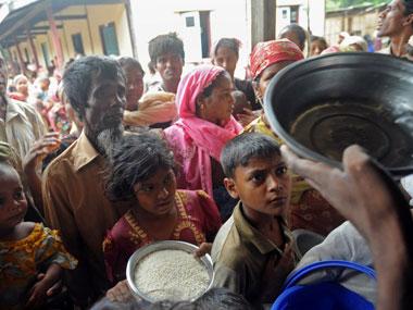 Rohingya Muslim refugees in Myanmar. AFP.