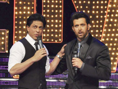 Shah Rukh Khan and Hrithik Roshan. AFP.