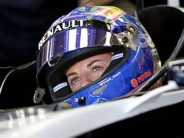 Trying to become the first female on the Formula One grid in almost 40 years, Susie Wolff during day three of the Formula One young driver tests at Silverstone. AP