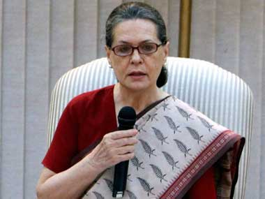 Sonia Gandhi in this file photo. PTI