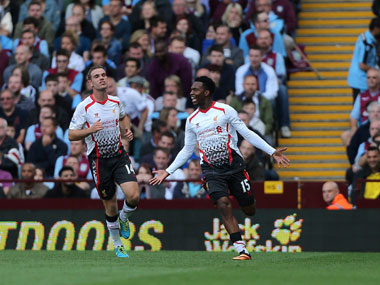 Daniel Sturridge celebrates his goal. AP
