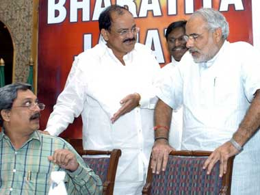 Parrikar has only endorsed Modi not criticised him. AFP