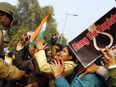 Rape protests in Delhi. AFP image