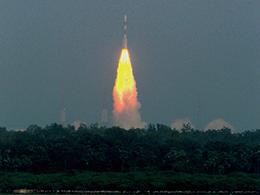 India successfully launched  its first mission to Mars on board PSLV C25 from Sriharikota. PTI