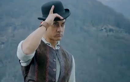 Aamir Khan in Dhoom 3  Screengrab from YouTube Aamir Khan In Dhoom 3 Sets