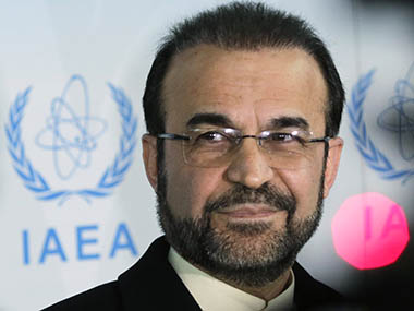 Iran's ambassador to the IAEA Najafi attends a news conference in Vienna. Reuters