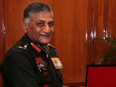 VK Singh. File photo AFP