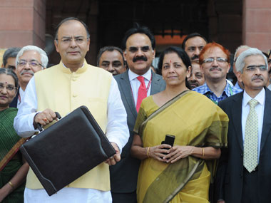 Finance Minister Arun Jaitley before presenting the budget: PIB