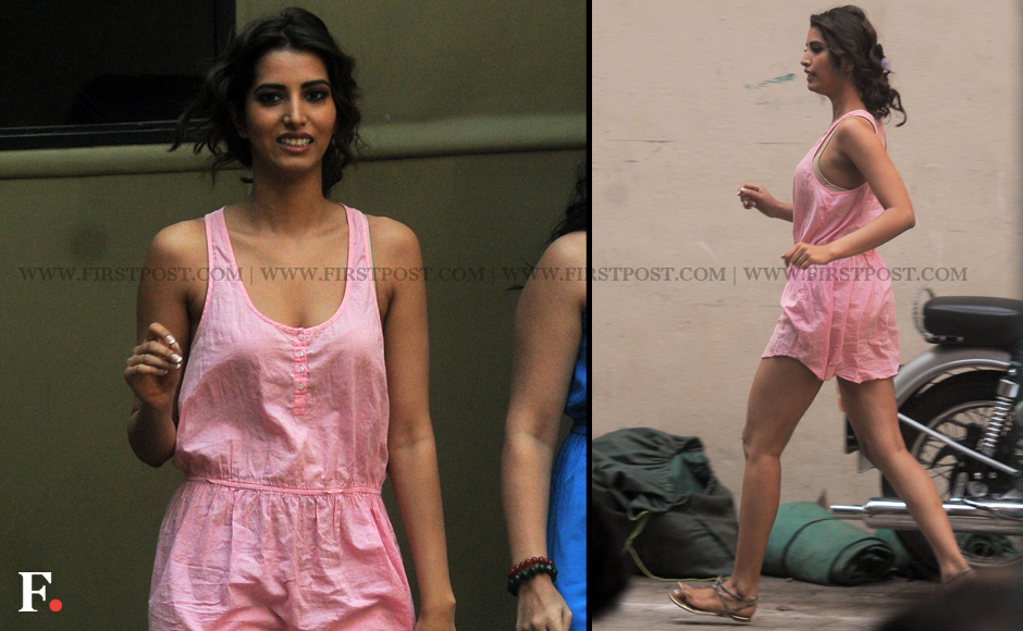 Spotted ajay devgn and ex miss india manasvi mamgai shooting for