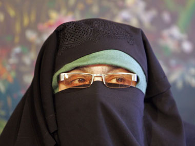Asiya Andrabi was booked for allegedly hoisting the Pakistani flag. Reuters