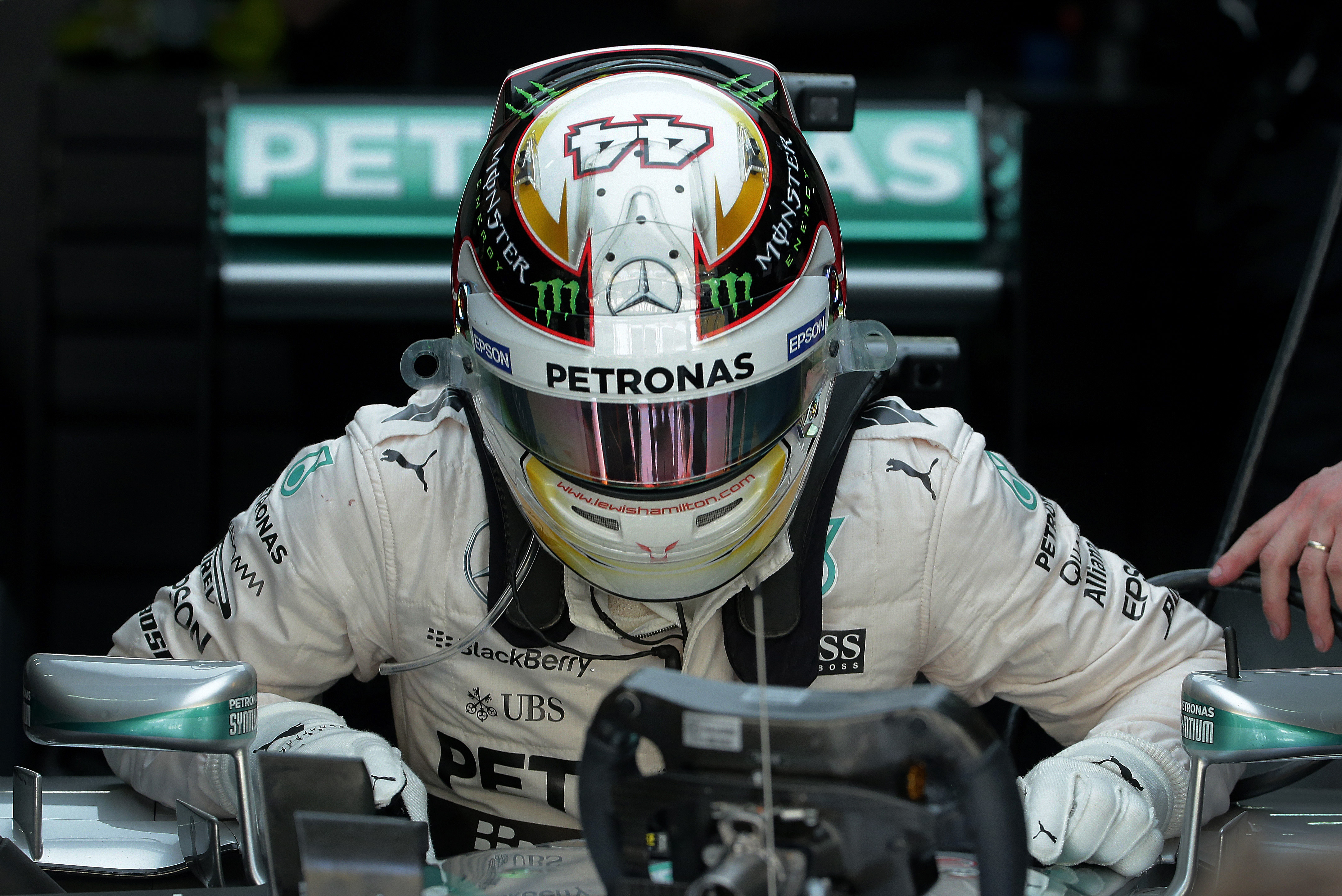 Hamilton tops both practice sessions at formula one for Mercedes benz f1 drivers