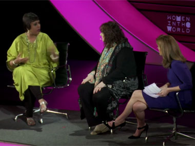 Barkha Dutt at the discussion.