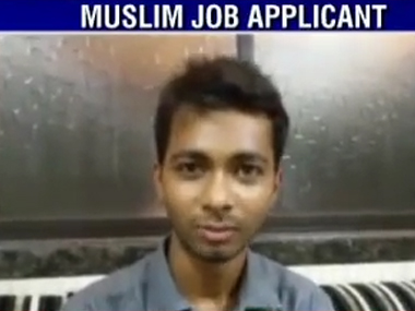The youth who was denied a job. Ibnlive image