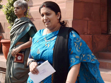 Court took cognizance of the complaint against HRD Minister Smriti Irani. PTI