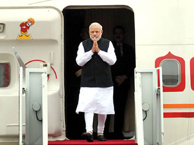 File photo of PM Modi in South Korea. PTI