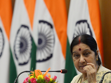 File photo of Sushma Swaraj. AFP