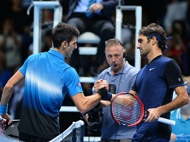 Roger Federer defeated Novak Djokovic in the round-robin stage. AFP