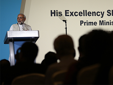 PM Modi in Singapore. AP