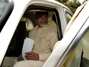 File image of Chandrabab Naidu. AFP